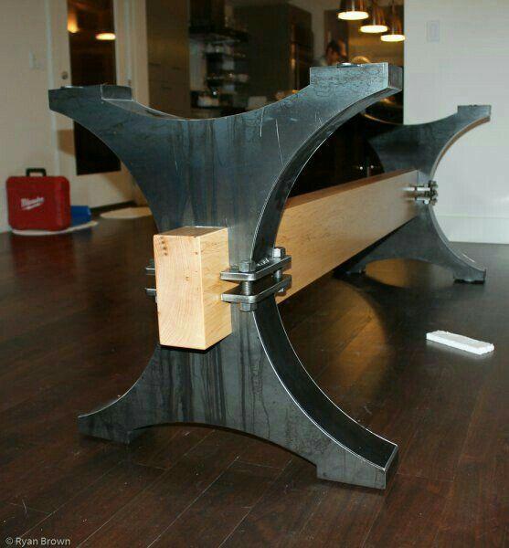 Modern Dining Table Quot X Quot Legs Heavy Duty Metal Legs