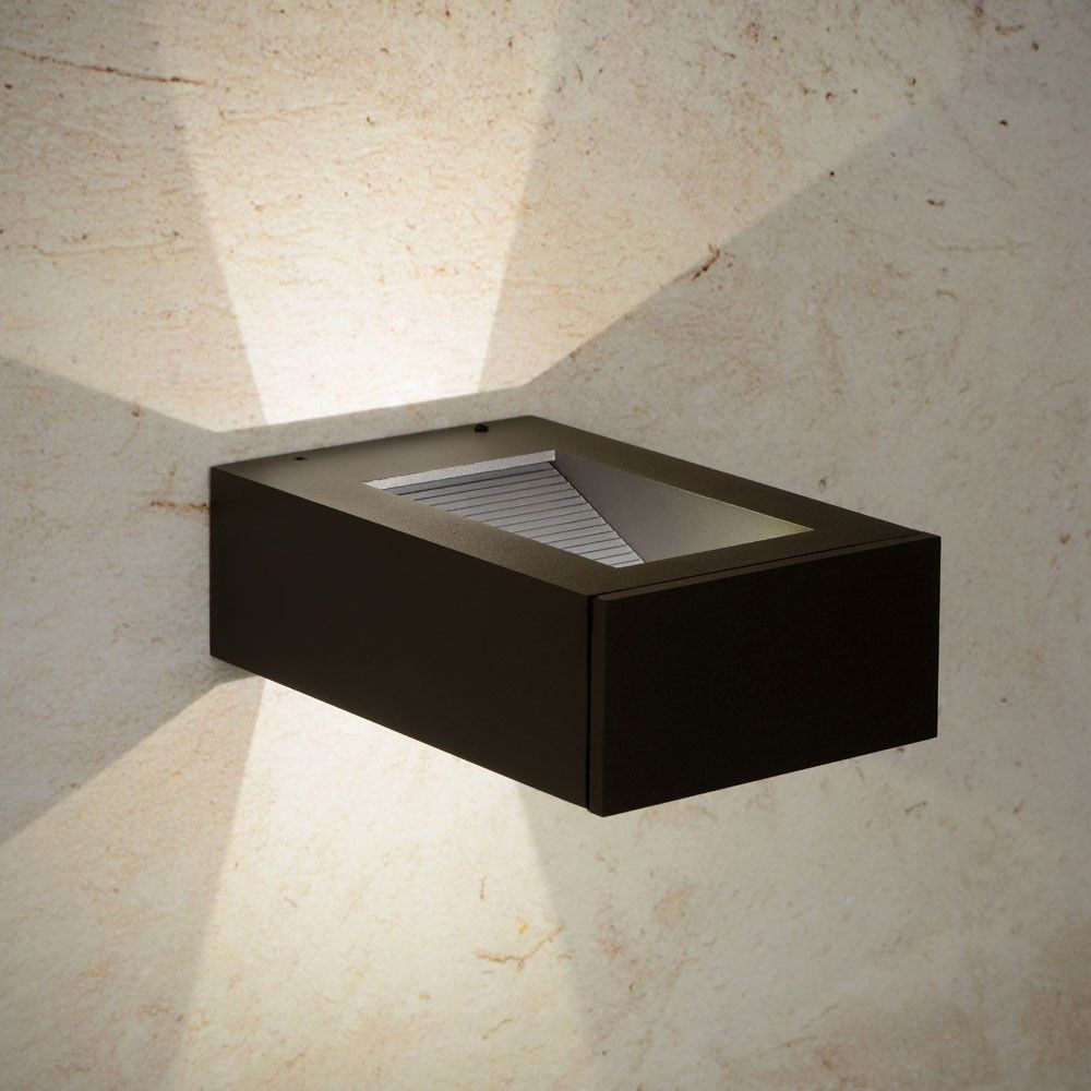 Licht Skapetze skapetze gentile led wandleuchte ip54 2x1 watt schwarz