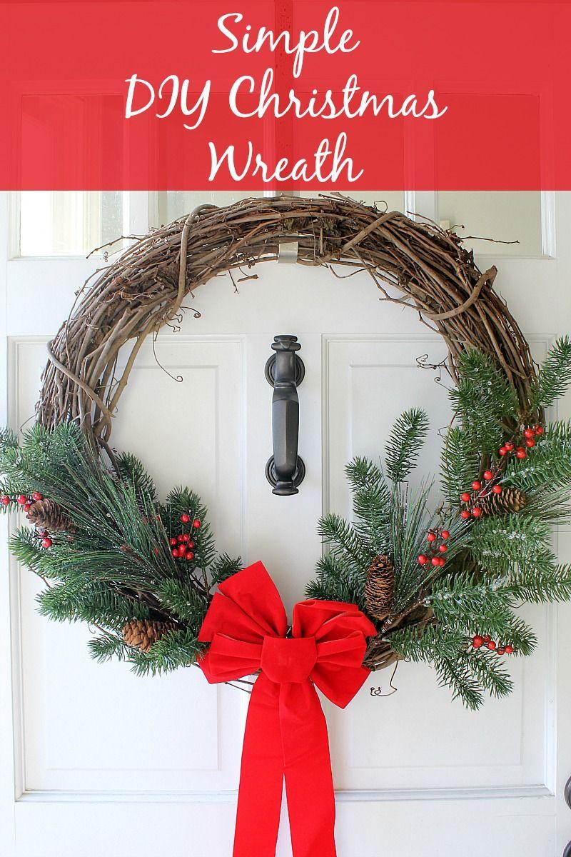 simple diy christmas wreath monthly diy challenge - Simple Christmas Wreaths