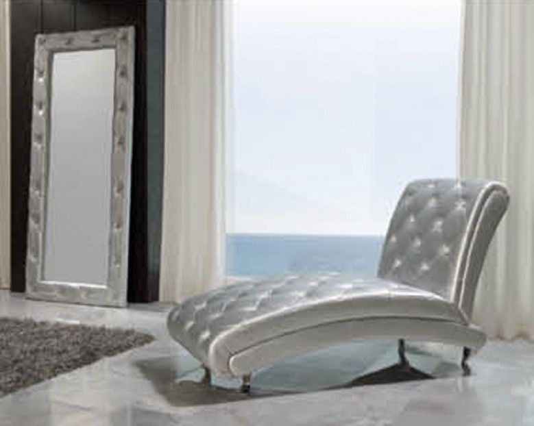 Esf Furniture 623 Lorena Chase Lounge B6 In Silver Contemporary