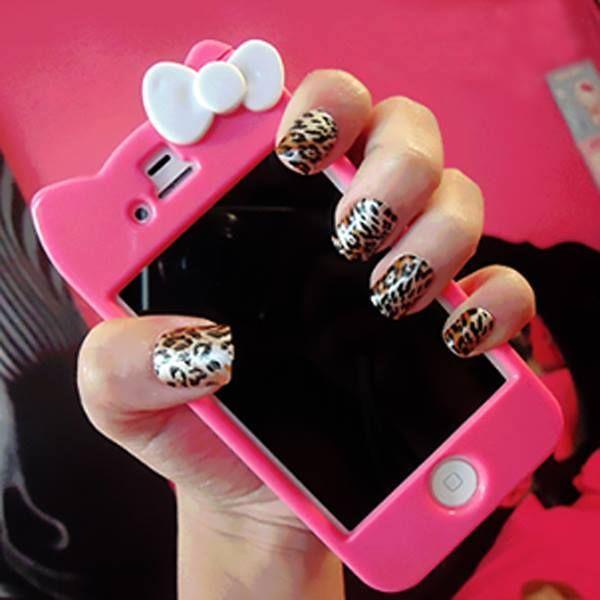 Pin by clara on color de uas pinterest leopard print nails and hello kitty case nails diy leopard print hello kitty nail art diy ideas do it yourself diy nails nail designs solutioingenieria Choice Image