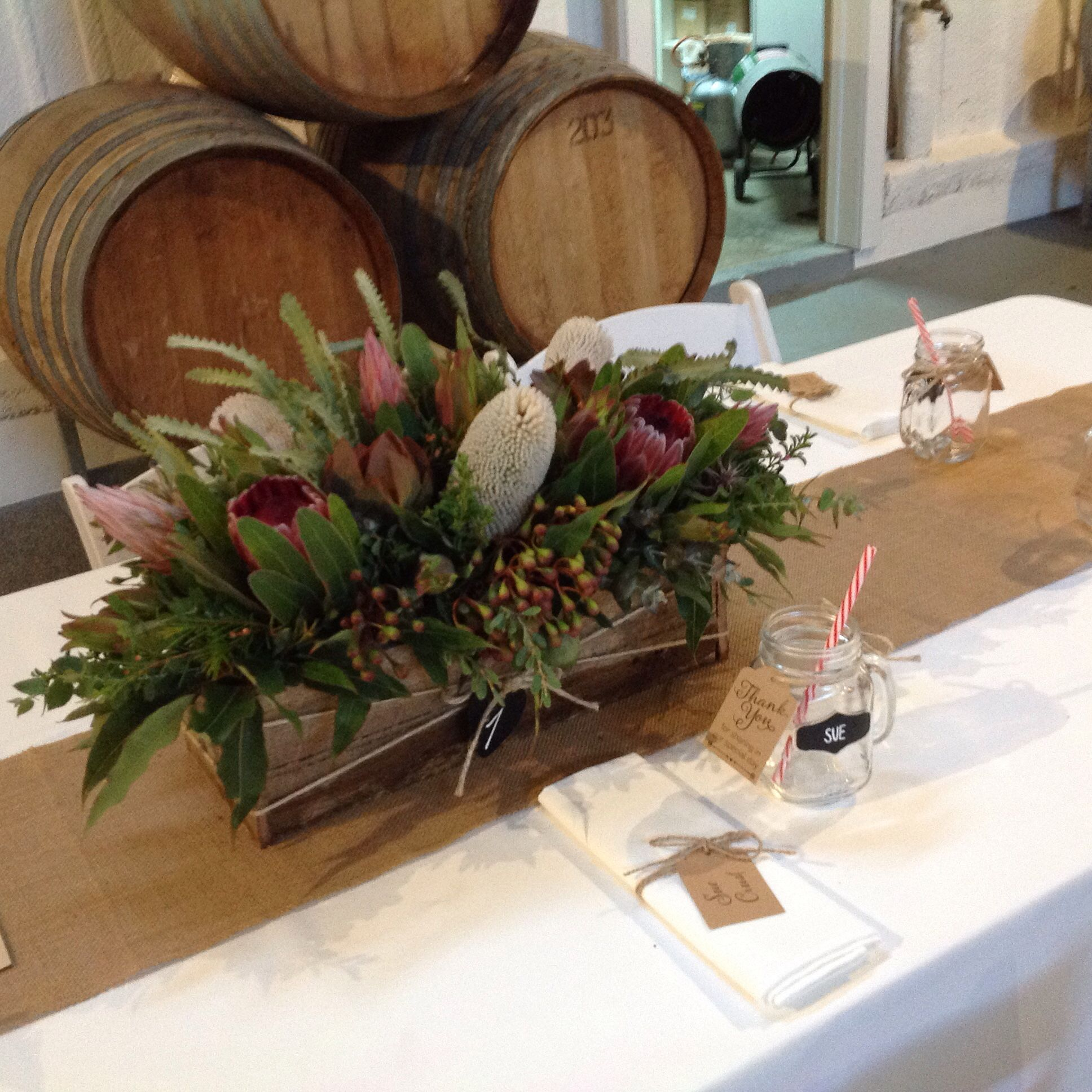 Wild Flowers Table Centres Protea Native Flowers Peninsula