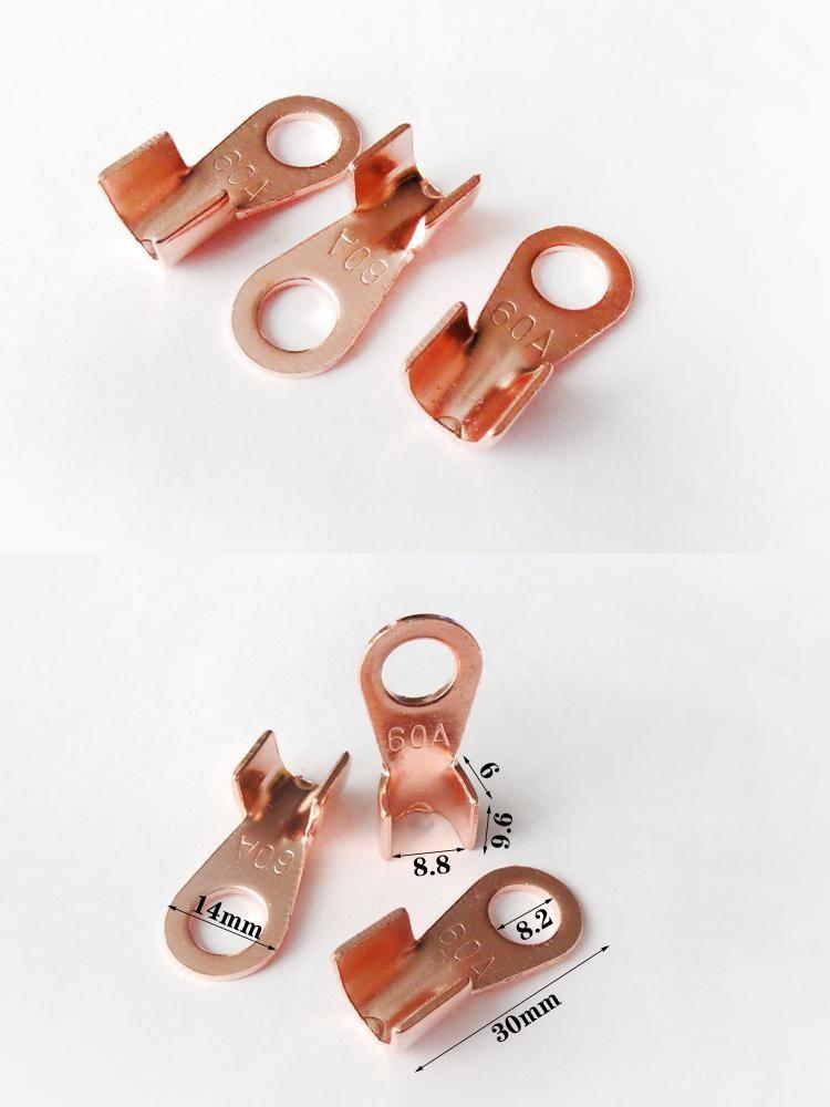 10pcs/lot OT-60A 8mm Dia Copper Circular Splice Terminal