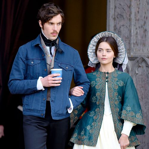 Jenna Coleman and Tom Hughes on the set of Victoria in ...
