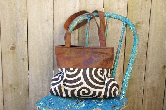 Handbag Purse Everyday bag  Chocolate Swirl by cayennepeppybags, $65.00
