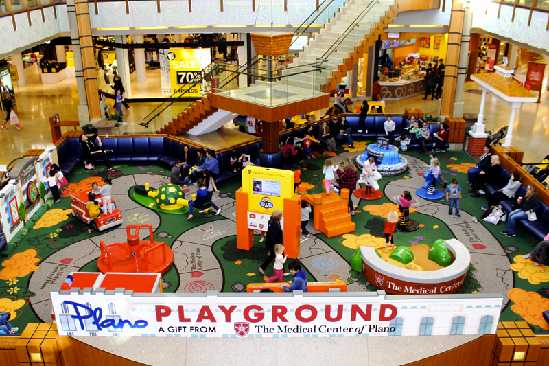 plano plaground in willowbend mall kids entertainment