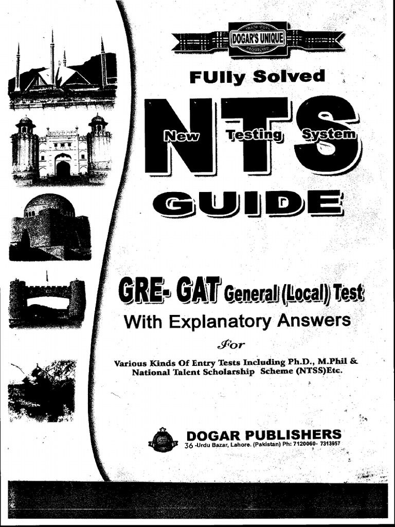 I'm reading nts gat general Test preparation guide book PDF Free