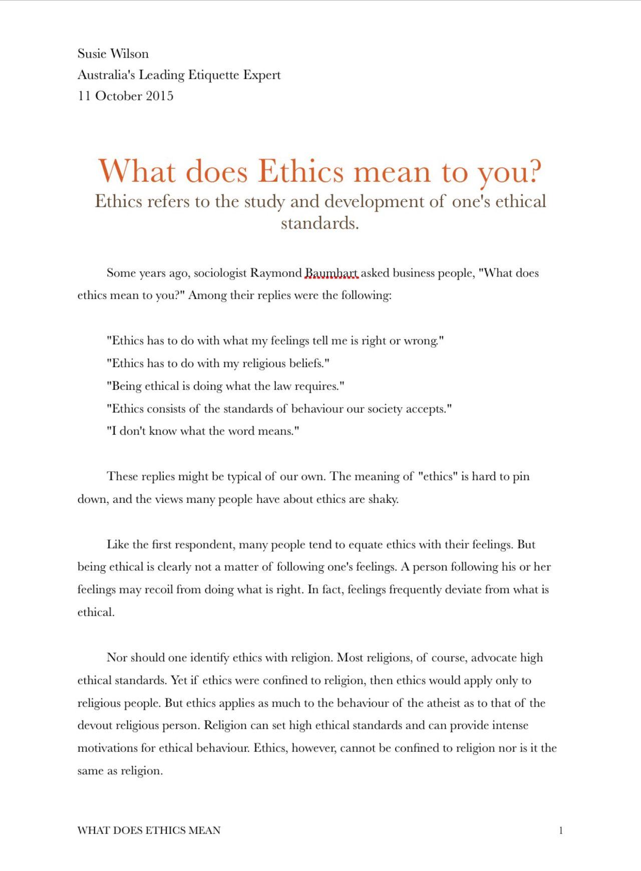 what do etiquette mean