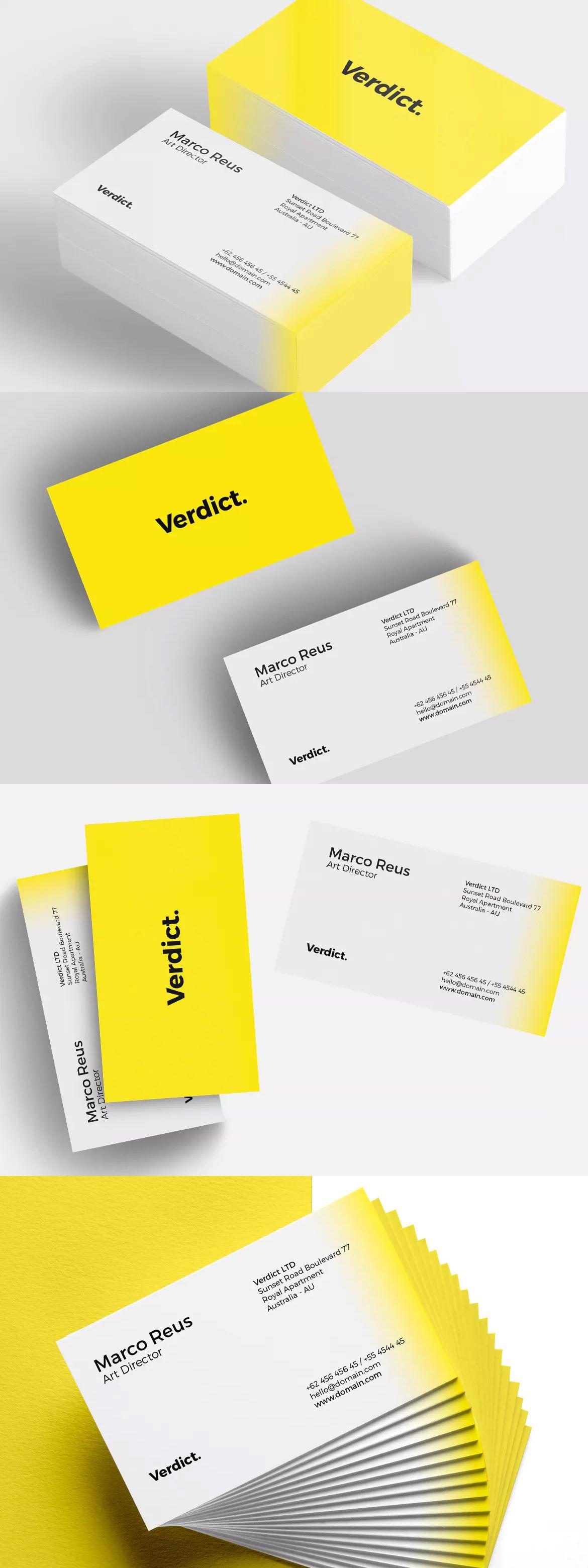 Minimal Business Card Template PSD | Tarjetas de Presentacion ...