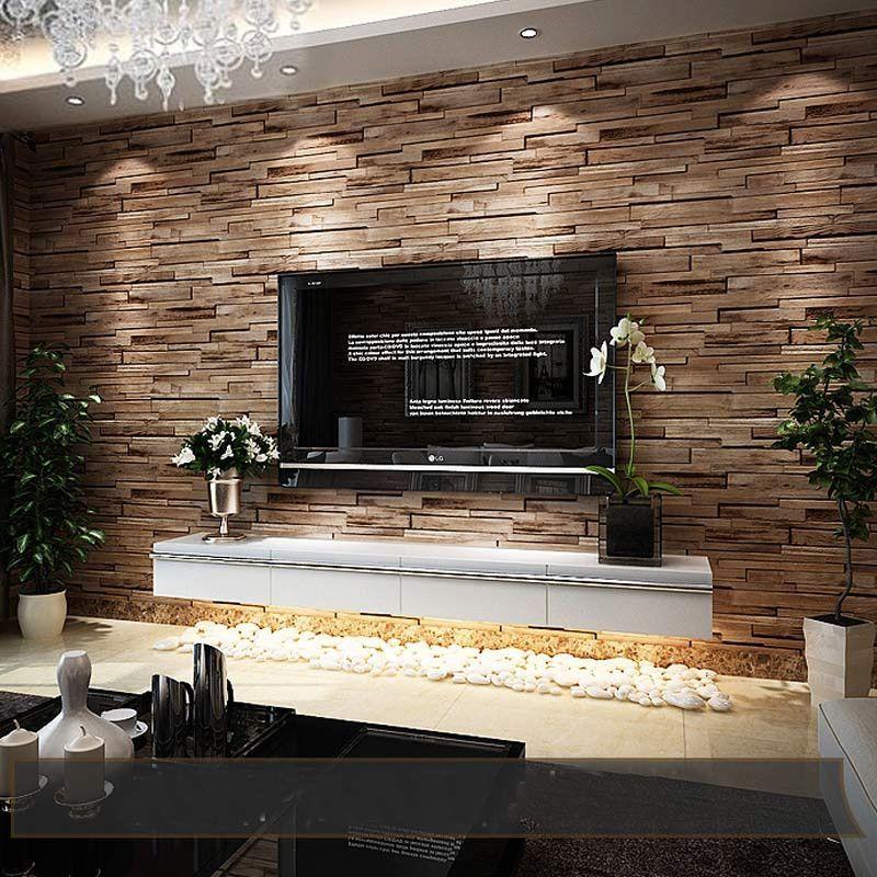 Pvc Wood Stone Brick 3d Modern Luxury Classic Vintage
