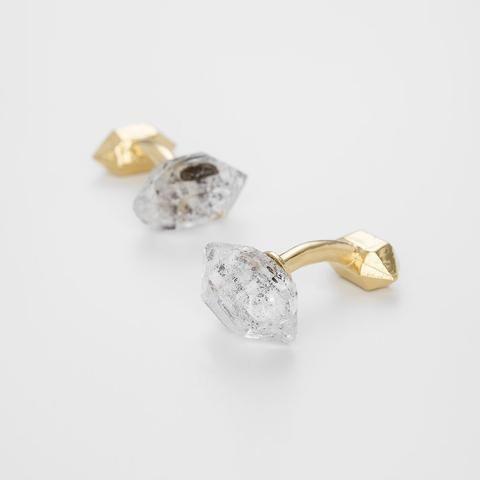 Bjørg Jewellery Herkimer diamond cufflinks