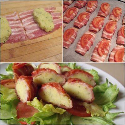 Pečená zemiaková kaša v slaninovom kabáte - To je nápad!