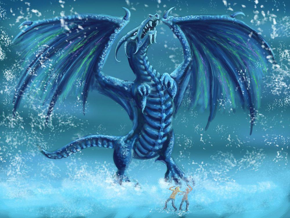 Dragon Ice Dragon Dragon Coloring Page Snow Dragon