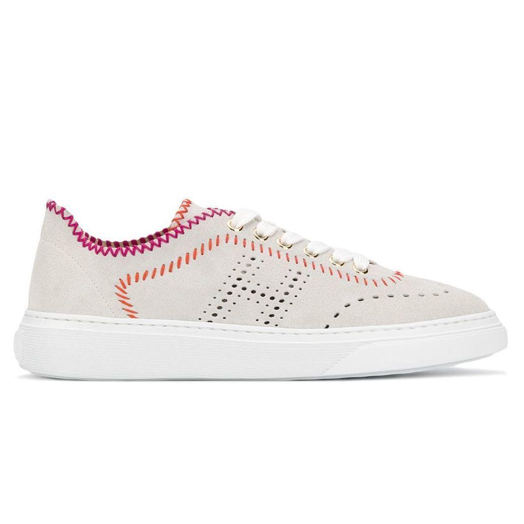 Sneaker Hogan H365 ghiaccio con cuciture colorate | Sneaker