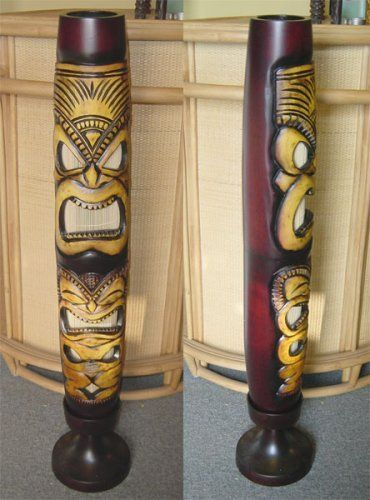 Tiki Tropical Wood Floor Lamp By Palmtreelamps Com Http Www Amazon Com Dp B00110qkos Ref Cm Sw R Pi Dp X0qpqb0kcz9sb Vintage Tiki Tiki Decor Tiki Head