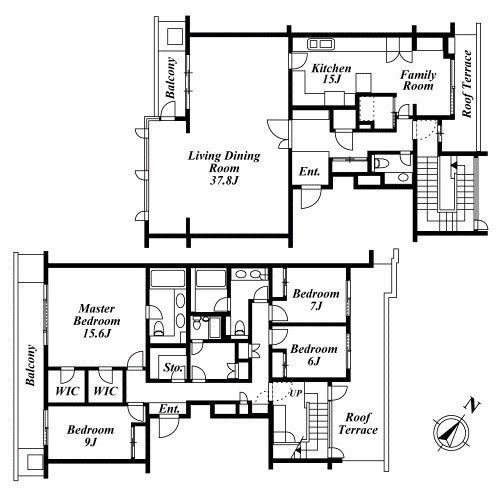 Traditional Japanese Houseapartment Floor Layout