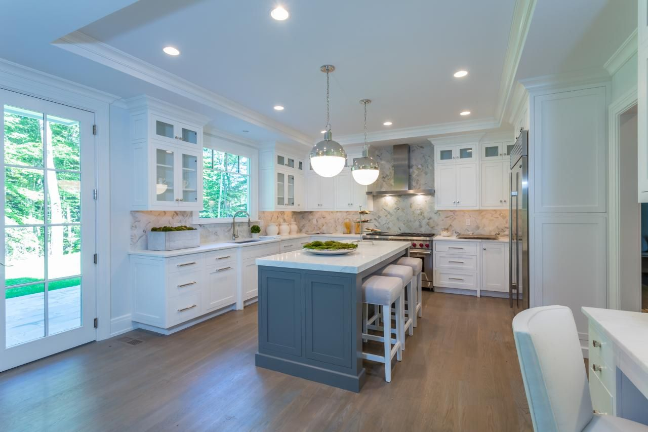 Shawna Feeley Interiors - Kitchens (white cabinets, marble ...