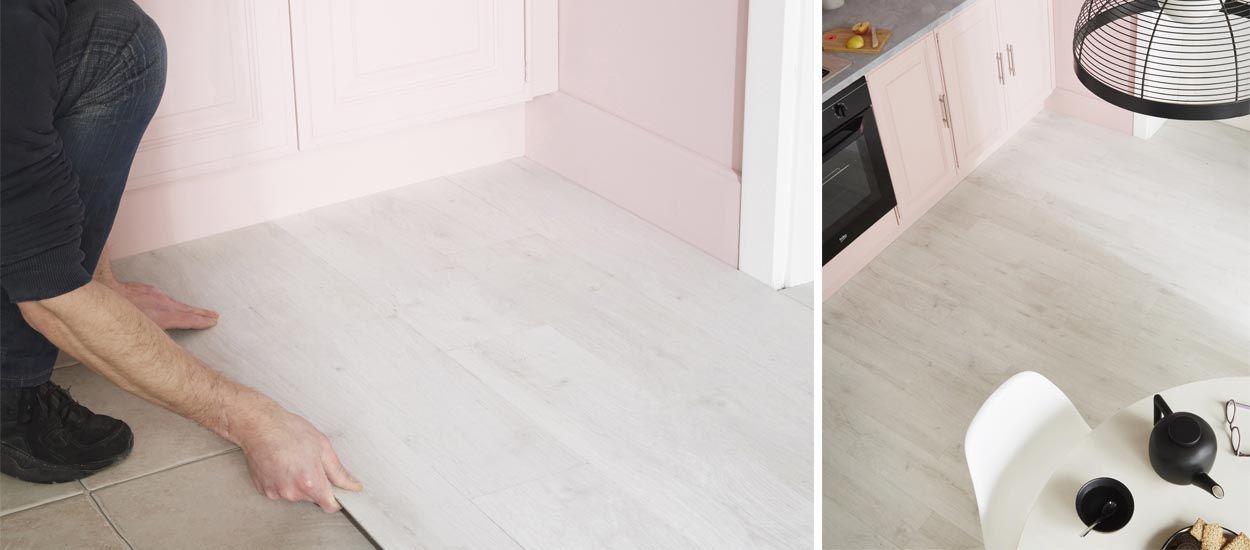 Sol PVC clipsable, dalles composites  choix de sols faciles à - peinture sol sur ragreage