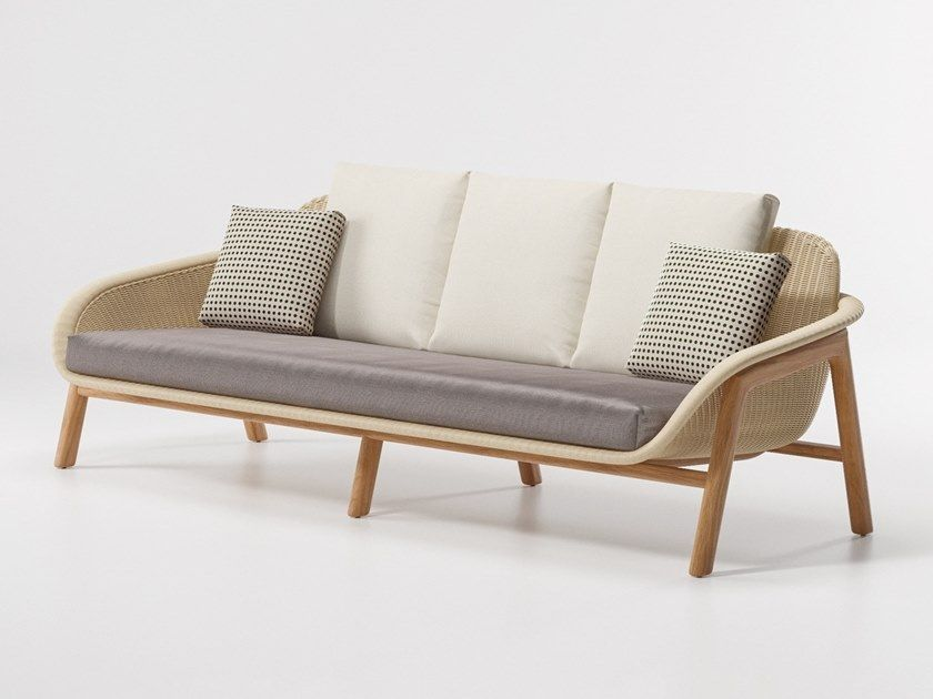 Divano da giardino in vimini Divano giardino, Design divano
