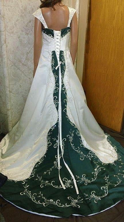 Green wedding dress wedding ideas pinterest green for White green wedding dress