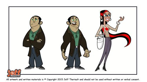 Misc characters for a flash animated short.