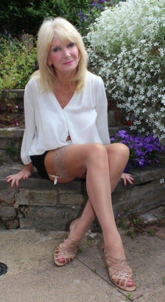 Blonde stocking gilf | No Hang-Ups | Sexy older women ...