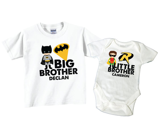 Personalized Big Brother Shirts and Matching Superhero Little Brother Shirts - Thomas The Train Big Brother Shirt & Thomas Train Little Sister