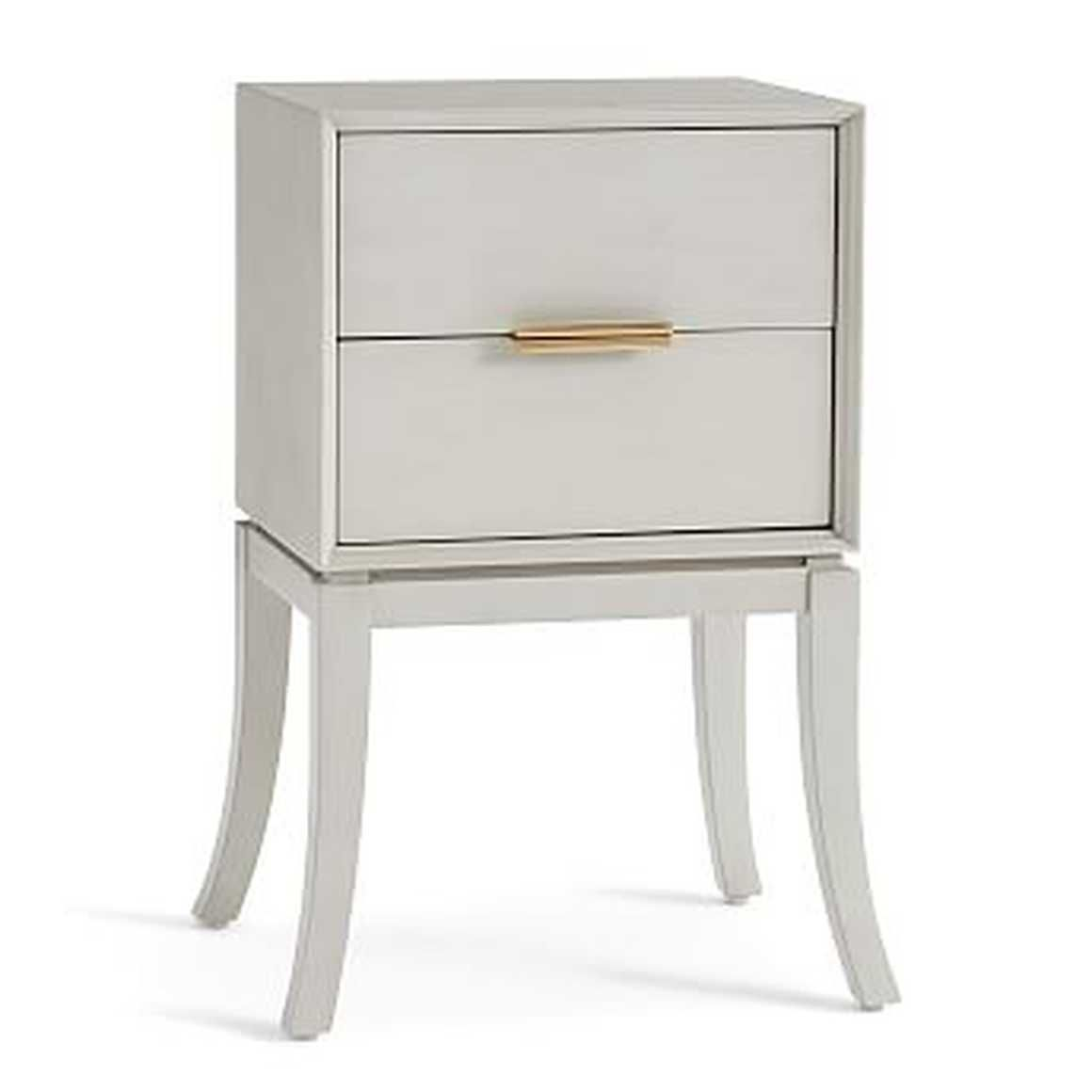 Leah Polished Nightstand Dusk Gray By Pottery Barn