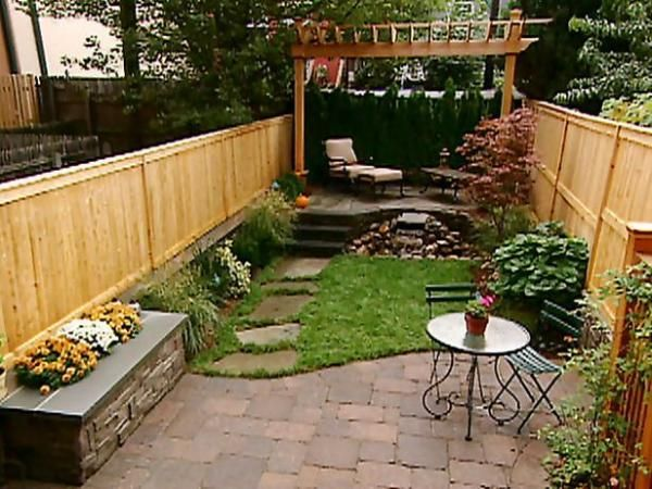 Small backyard ideas landscape design photoshoot small backyards - Small space garden design ideas set ...