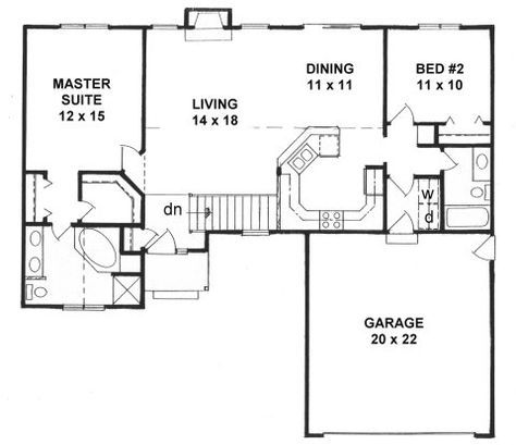 Plan 1218 2 Split Bedroom Ranch Ranch Style House Plans House Plans Small Floor Plans