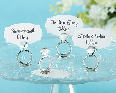 With This Ring Jeweled Place Card Holders ... add some bling! #weddings #wherebridesgo