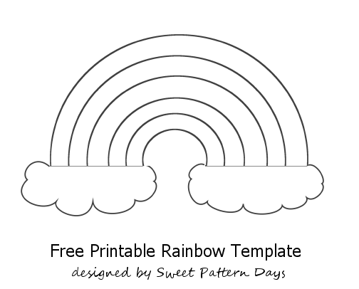 Rainbow Template Printable  Sketches And Templets