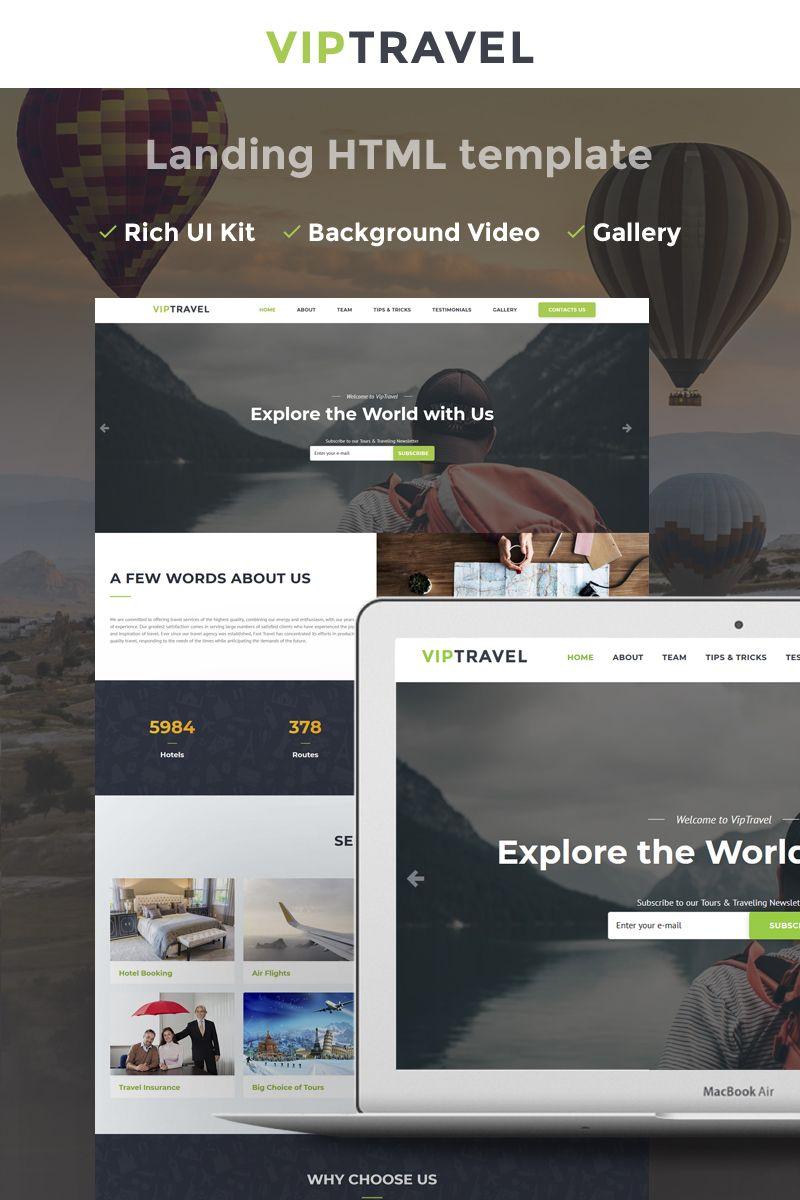 VIPTravel - Travel Agency HTML5 Landing Page Template | Pinterest ...