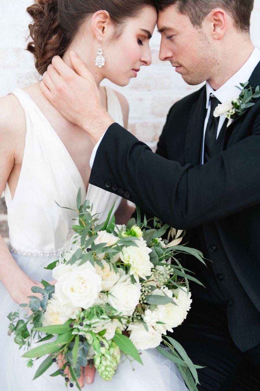 Photography : Roots Of Life Photography | Wedding Dress : Alyssa Kristin Bridal  | Venue : Villa Terrace Decorative Arts Museum | Floral Design : May Floral  | Coordinator : Heirloom Event Co | Wedding Dress : Alyssa Kristin Read More on SMP: http://www.stylemepretty.com/wisconsin-weddings/milwaukee/2016/01/18/elegant-european-villa-wedding-inspiration/