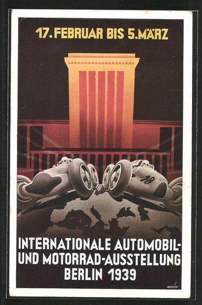 Ak Berlin postcard künstler ak berlin internationale automobil und