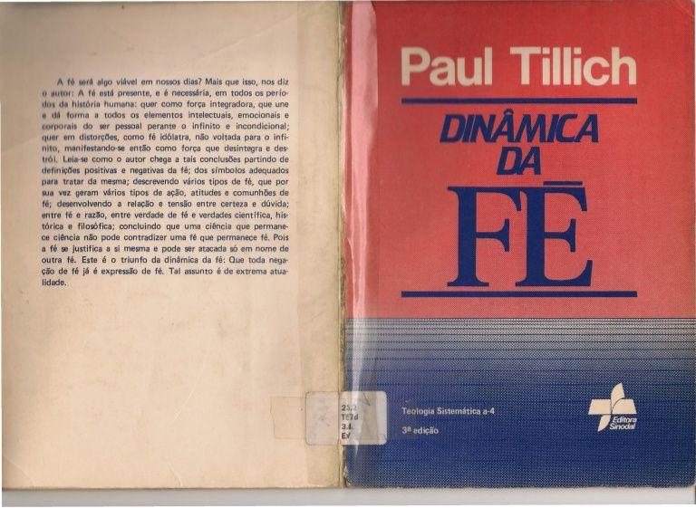 dinamica-da-fe-paul-tillich by Heber Lídia via Slideshare