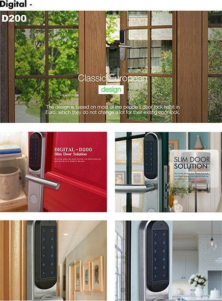 Avent Security D200 Electronic Security Door Lock With Password Digital Door Lock Security Door Smart Door Locks
