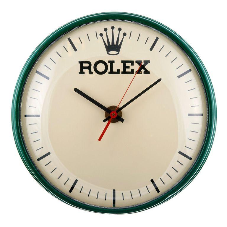 Rolex Metal Wall Clock Circa 1960s Decorating In 2019
