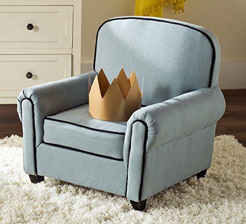 Safavieh Kids Collection Tiny Tycoon Club Chair, Blue living room
