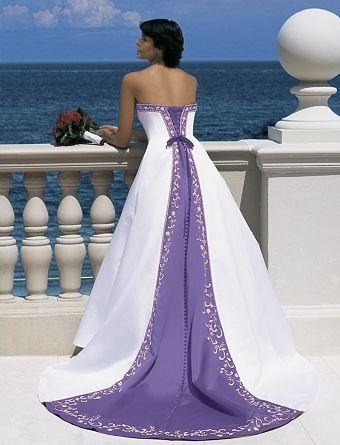 vestido blanco y morado | boda | pinterest | wedding dresses