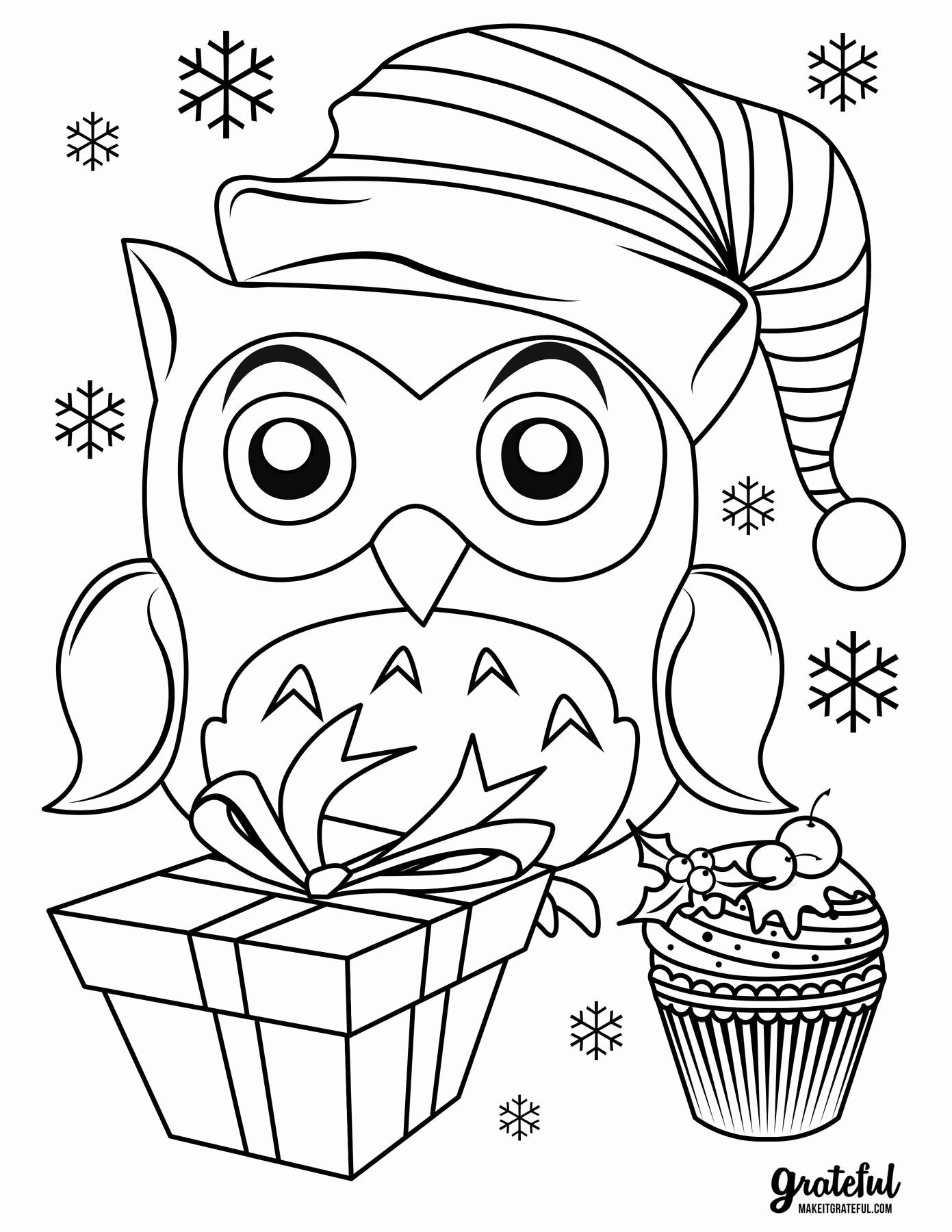 Free Printable Holiday Coloring Pages Unique Coloring Christmas Coloring Pages For Kids Adul In 2020 Owl Coloring Pages Cartoon Coloring Pages Christmas Coloring Books