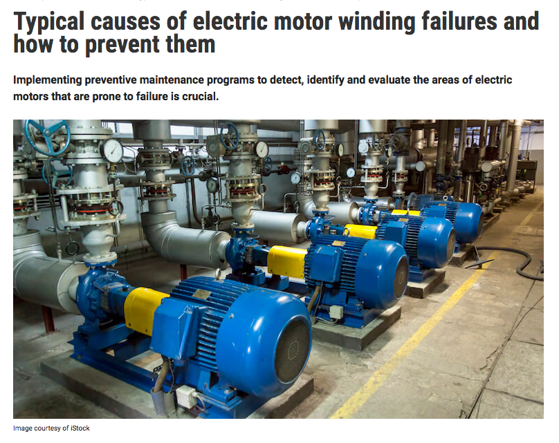 Accelix blog Typical causes of electric motor winding