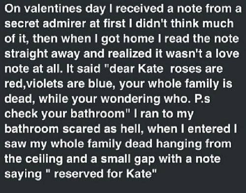 Creepypasta picture-story #84: Kate | Creepy af | Short scary