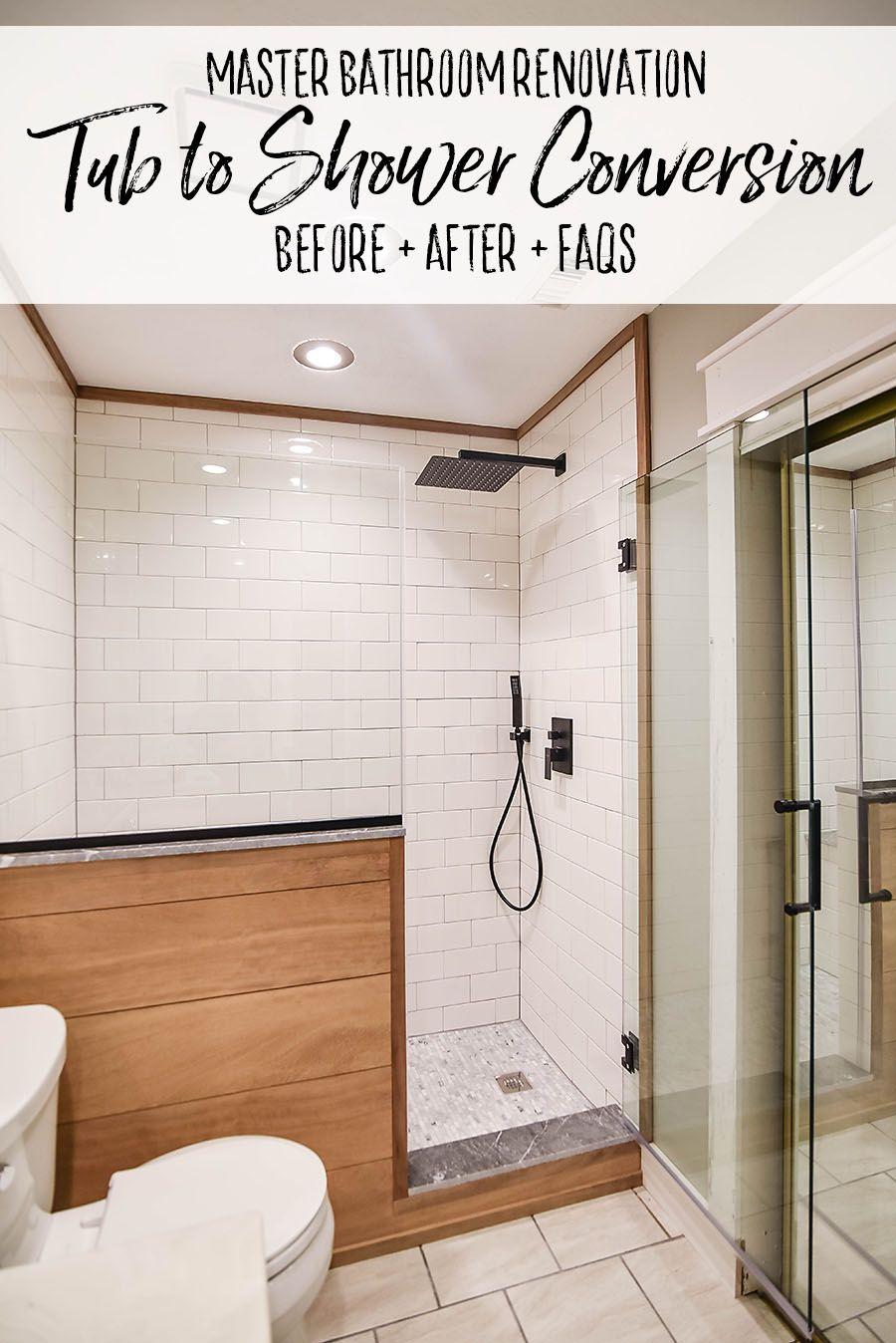 Master Bathroom Renovation Converting A Bathtub Into A Walk In