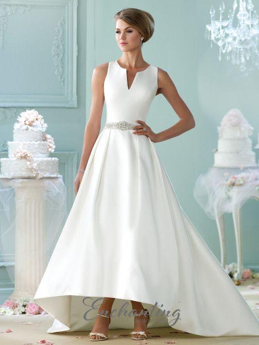 Modern Wedding Dresses 2018 by Mon Cheri | High low skirt, Enchanted ...