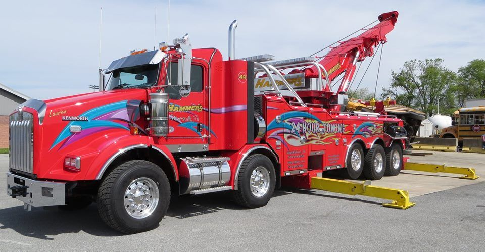 Hammer S Towing Minersville Pa Towing Trucks Tow Truck
