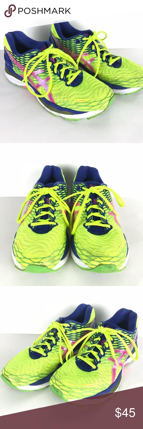 Chaussures de course Asics Gel Nimbus course de 18 Yellow | Pink 10 | e2b51ce - afilia.info