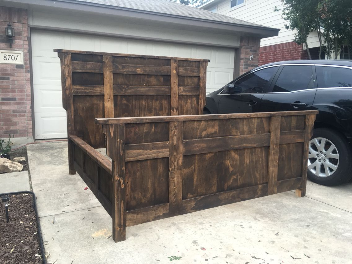 My Rustic King Size Bed Frame Wooden King Size Bed King Size