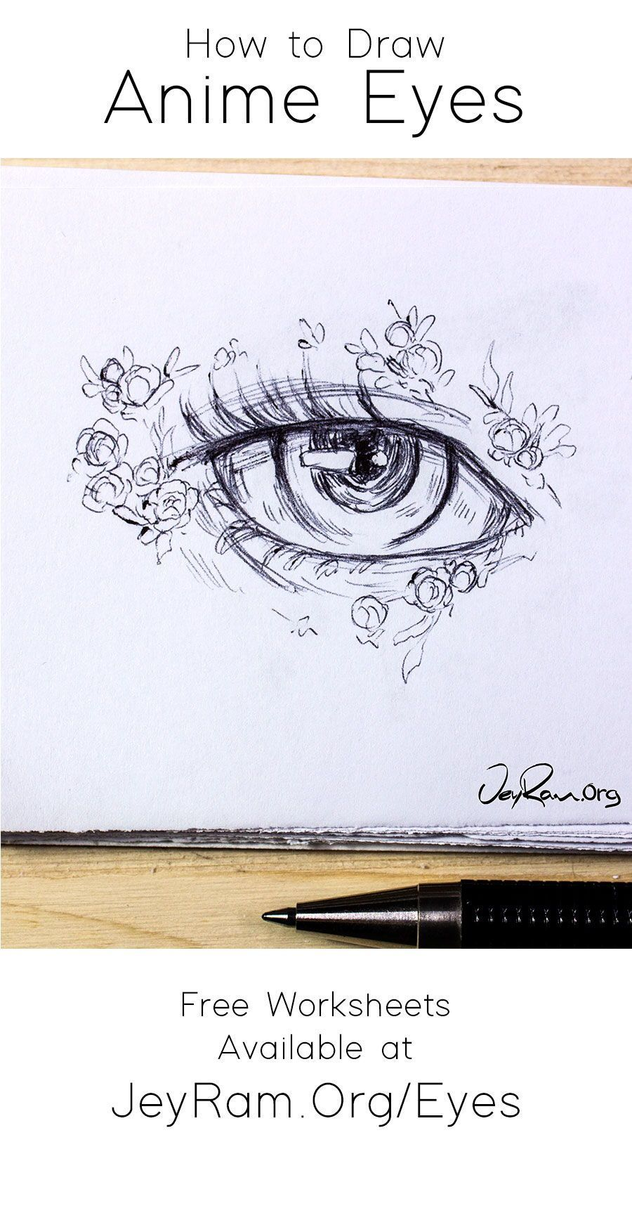 How To Draw Female Anime Eyes Step By Step For Beginners Pdf By Jeyram Learn How To Draw The Beautiful Female Anime Female Anime Eyes How To Draw Anime Eyes