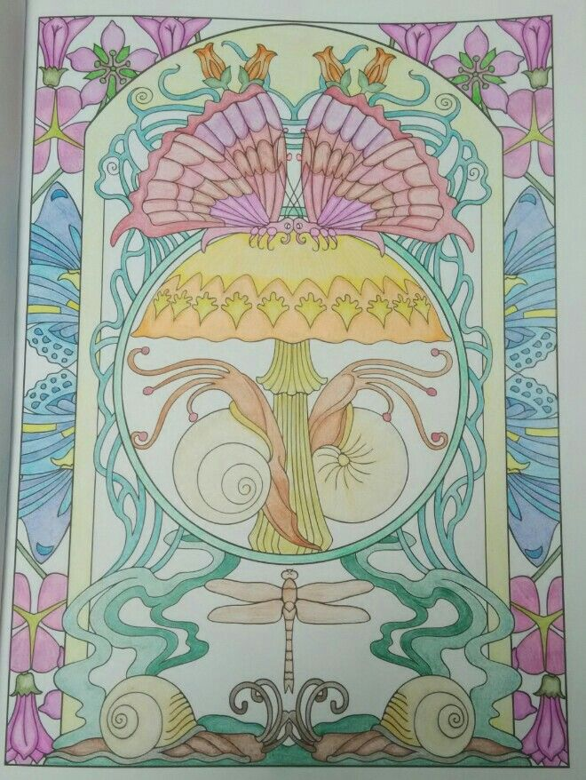 Artists Colouring Book Art Nouveau : Stephanie bodlak 18 division from creative haven art nouveau